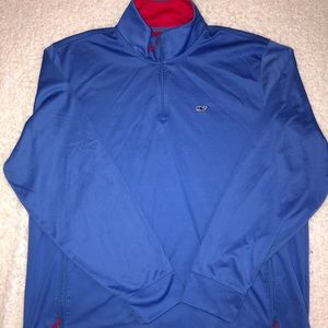 Men's vineyard vines blue and red pullover